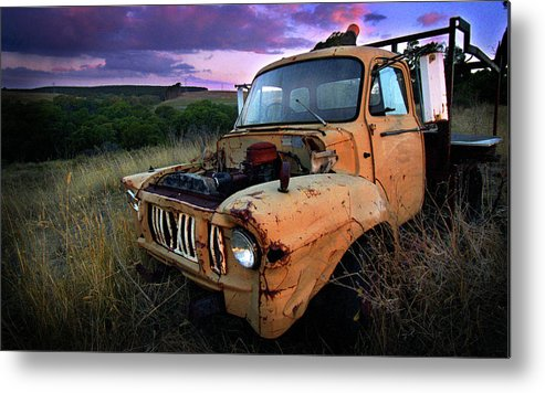 Truck Metal Print featuring the photograph Abandoned by Tim Nichols