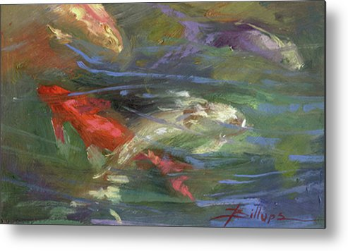 Plein Air Metal Print featuring the painting Below The Surface by Betty Jean Billups
