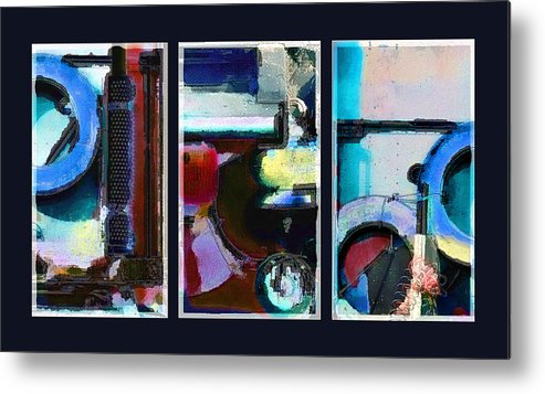 Abstract Metal Print featuring the digital art Centrifuge by Steve Karol