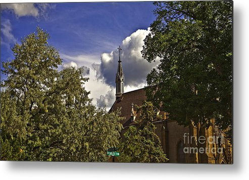 Church Metal Print featuring the photograph Church In Santa Fe by Madeline Ellis