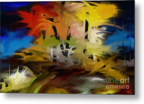 Digital Metal Print featuring the painting Crazy Nature by Rushan Ruzaick
