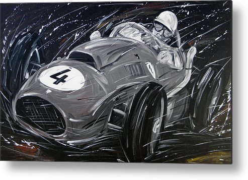 Cars Metal Print featuring the painting Ferrari 1958 Hawthrorn by Roberto Muccilo