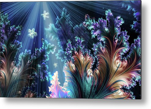 Metal Print featuring the mixed media Flowers Of The Sea by Steven Marcus