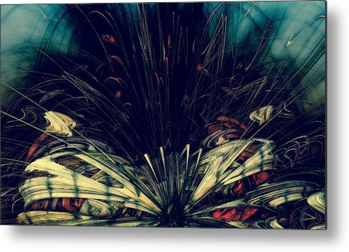 Forgotten Gardens #10 Metal Print featuring the digital art Forgotten Gardens #10 by Romain Noir