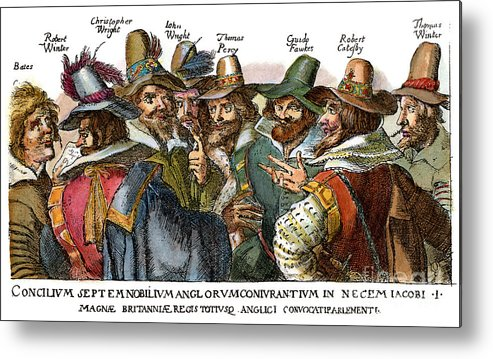 1605 Metal Print featuring the drawing Guy Fawkes, 1570-1606 by Granger