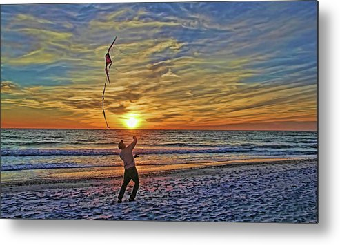 Fly A Kite Metal Print featuring the photograph Let's Go Fly A Kite by HH Photography of Florida