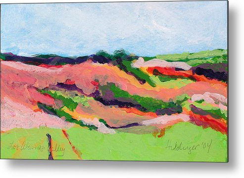 Landscape Metal Print featuring the painting Los Alamos Valley II by Deborah Hildinger