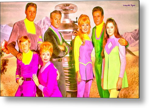 Lost In Space Metal Print featuring the painting Lost In Space Team - Pa by Leonardo Digenio