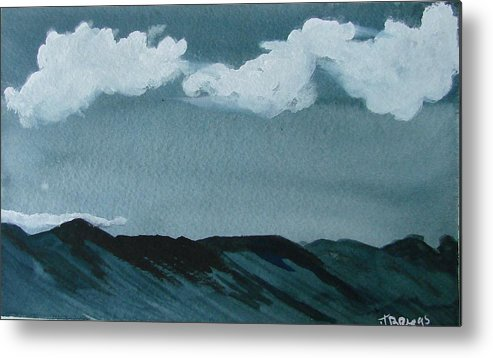 Moutains Metal Print featuring the print Mountains by Dottie Briggs