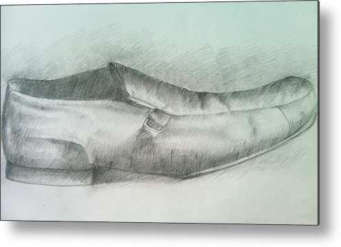 Drawings Metal Print featuring the drawing My Shoe by Olaoluwa Smith