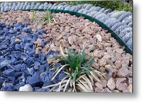 Nature Beautiful Garden Metal Print featuring the photograph Pebbles by Maha Ahmed