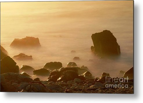 Rock Metal Print featuring the photograph Pepple Beach by Catherine Lau