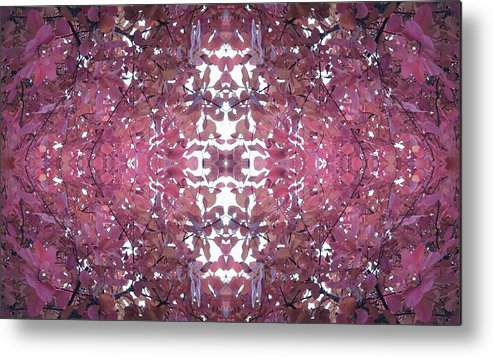 Autumn Metal Print featuring the photograph Photo 0800 Autumn Tree Leaves Fractal E1 Mid Centre by Julia Woodman