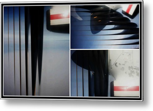 Airplane Propellers Metal Print featuring the photograph Propeller Collage by Lori Mahaffey