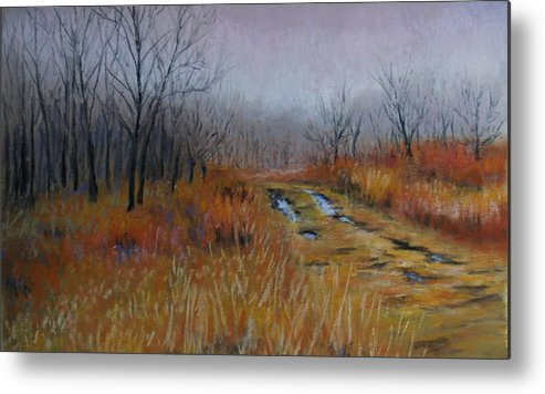Landscape Metal Print featuring the painting Road Of Hope by Susan Jenkins
