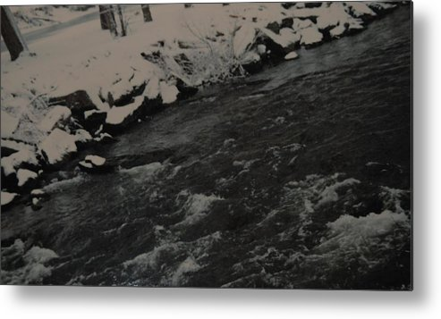 Landscape Metal Print featuring the photograph Running Water by Rob Hans