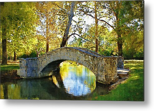 Eastwood Metropark Metal Print featuring the photograph Stone Bridge by D W Steinbarger