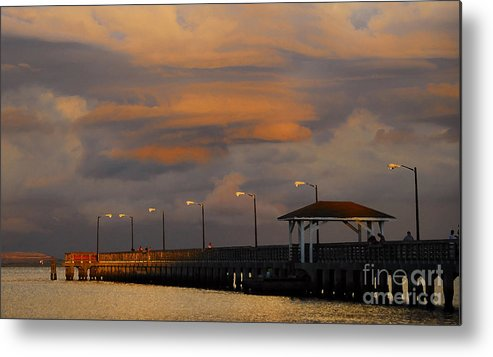Storm Metal Print featuring the photograph Storm Over Ballast Point by David Lee Thompson