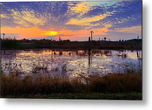 Sunrise Metal Print featuring the photograph Sunrise In Viera by Carl Clay