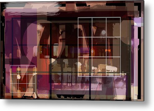 Abstract Vision Images Metal Print featuring the digital art Through A Window by DC Campbell