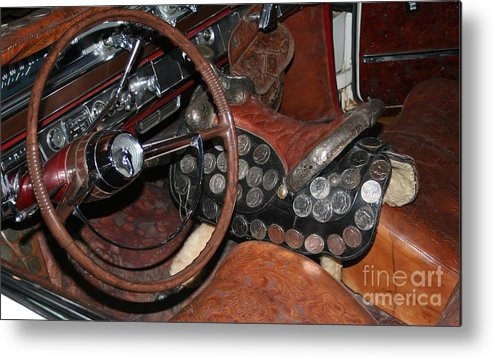 Car Interior Metal Print featuring the photograph Turnpike Cruiser by John Black