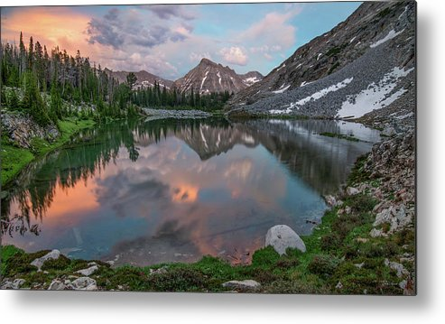 Idaho Scenics Metal Print featuring the photograph Mountain Lake Sunset by Leland D Howard