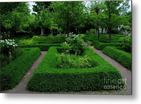 English Metal Print featuring the photograph English Garden by Kathleen Struckle