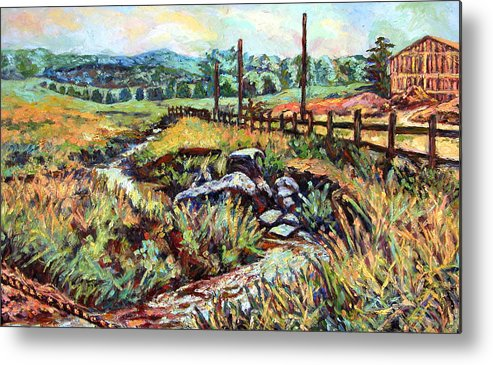 Landscape Paintings Metal Print featuring the painting Stroubles Creek by Kendall Kessler