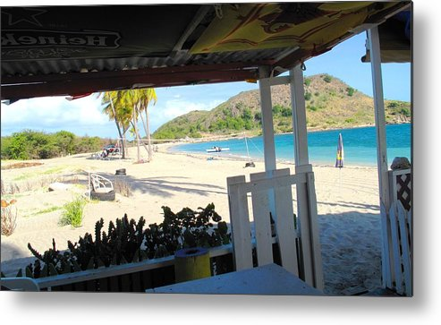 St Kitts Metal Print featuring the photograph Beach Bar In January by Ian MacDonald