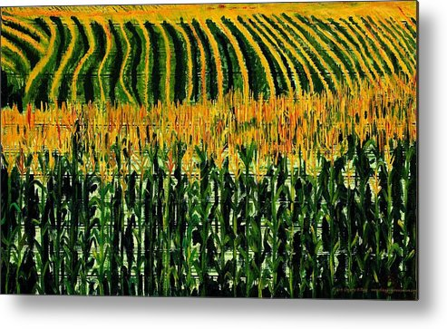 Corn Metal Print featuring the painting Cash Crop Corn by Gregory Allen Page