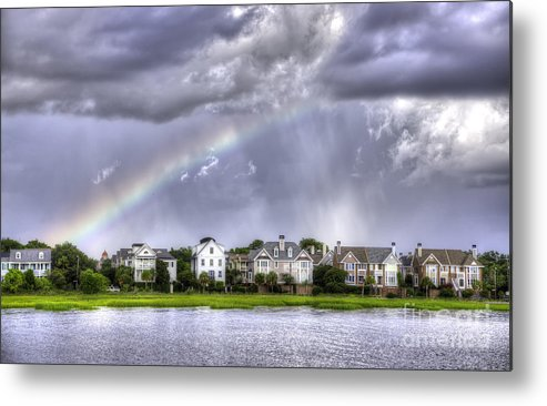 Charleston Rainbow Metal Print featuring the photograph Charleston Rainbow Homes by Dustin K Ryan