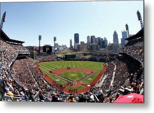 Professional Sport Metal Print featuring the photograph Chicago Cubs V Pittsburgh Pirates by Justin K. Aller