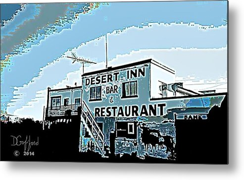 Hotel Metal Print featuring the painting Desert Inn by Dave Gafford