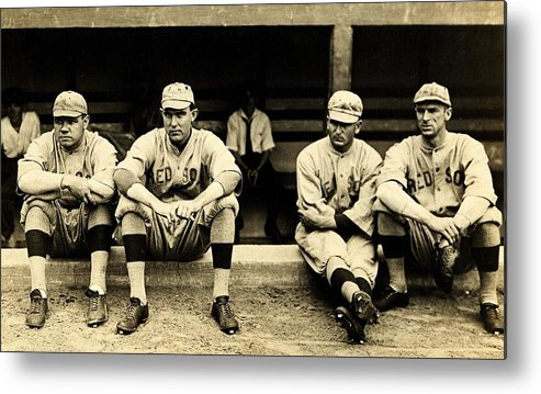Babe Ruth Metal Print featuring the photograph Early Red Sox by Benjamin Yeager