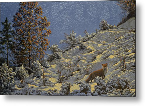Forest Metal Print featuring the painting Echo Of Yesterday by Valentin Katrandzhiev