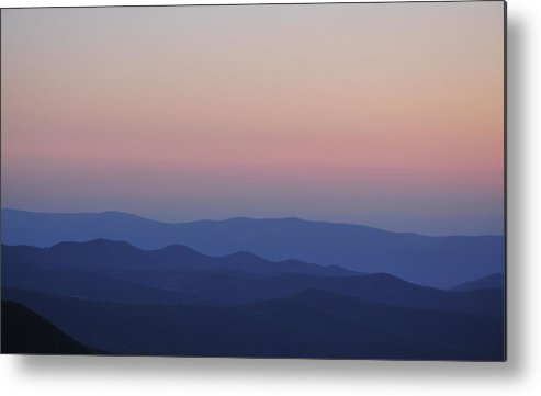 Blue Ridge Metal Print featuring the photograph Evening Sunset In The Blue Ridge by Beverly Vogel