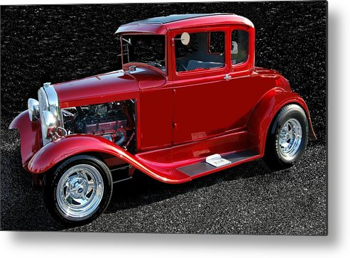 Ford Metal Print featuring the mixed media Ford Out Of This World by Eric Liller