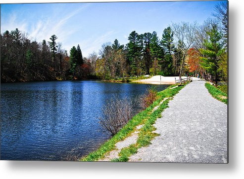 Metal Print featuring the photograph Fuller Lake by Becky Anders