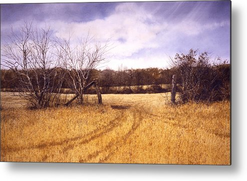Landscape Metal Print featuring the painting Gateway by Tom Wooldridge