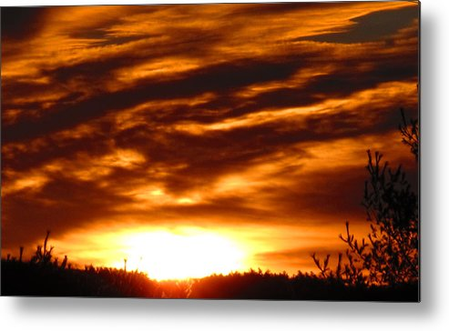 Sunset Metal Print featuring the photograph Golden Sky by Melanie Leo