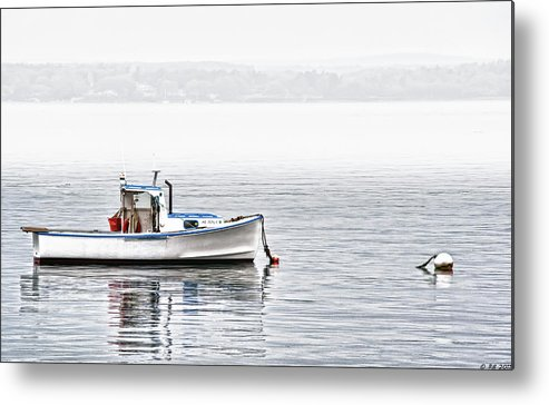 Boat Metal Print featuring the photograph Idle Mooring by Richard Bean