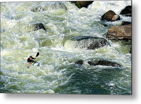 Kayak Metal Print featuring the photograph Kayaker by David Kay