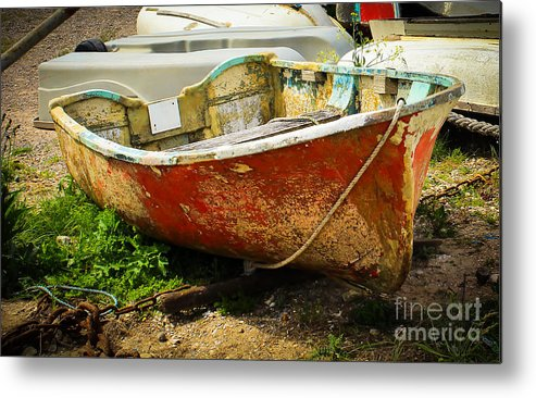 Boat Metal Print featuring the photograph Lady In Red by Rene Triay Photography
