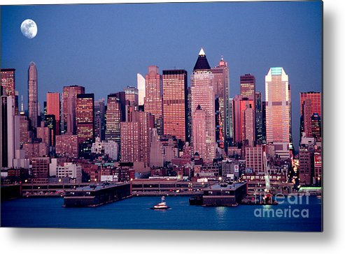 Nyc Metal Print featuring the photograph New York Skyline At Dusk by Anthony Sacco
