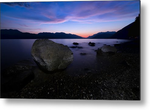 Beautiful Metal Print featuring the photograph Night Rocks by James Wheeler