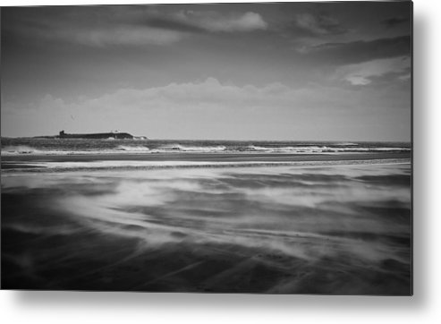 Landscape Metal Print featuring the photograph North Sea Gale by Arianna Petrovan