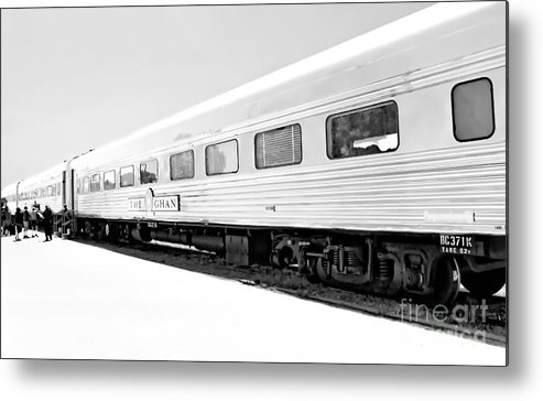 Digital Black And White Photo Metal Print featuring the digital art Out In The Open Bw by Tim Richards