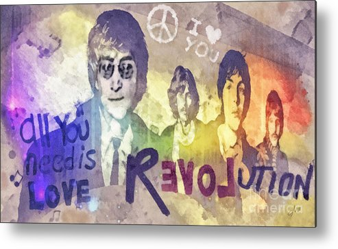 Revolution Metal Print featuring the mixed media Revolution by Mo T