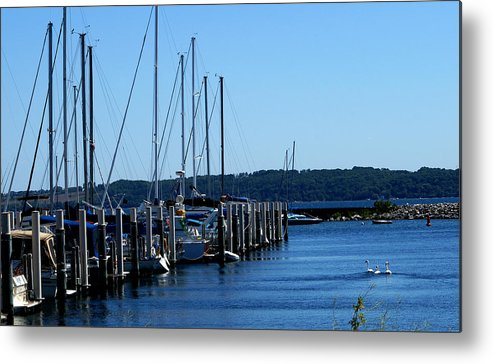 Sail Boats Metal Print featuring the photograph Sail Boats by Lonnie Niver