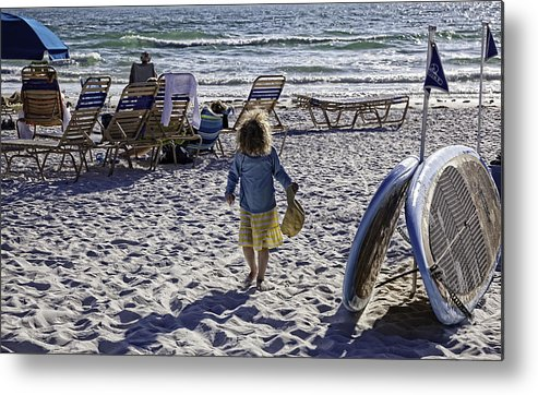 Summer Metal Print featuring the photograph Simpler Times 2 - Miami Beach - Florida by Madeline Ellis